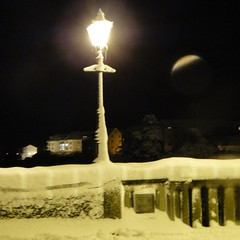 Like a scene straight out of Narnia (paddy mitchell) Tags: bridge light night snowy frosty narnia