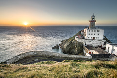 Sunrise in Baily lighthouse, Dublin, Ireland