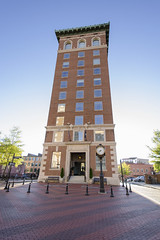 Greenville Chamber of Commerce Building (rschnaible) Tags: city usa building up architecture walking us downtown commerce tour south country sightseeing center tourist southern chamber carolina greenville