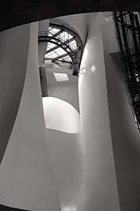 Guggenheim Bilbao 2011 08225 (emiliusphoto) Tags: architecture spain arquitectura frankgehry paisvasco museoguggenheimbilbao blackandwhyte