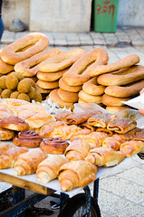 Street Pastries (meringuedesigns) Tags: bread israel jerusalem pastries streetfood nikond7000