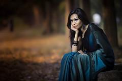 Out door shoot - Mahi (anter_uz_zaman) Tags: portrait woman green fashion canon eos outdoor 28 dhaka usm saree 70200 bangladesh uz 6d anter zaman yn565