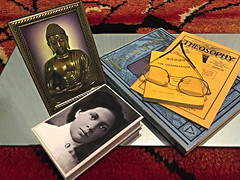 Dhammapada in Theosophy (buddhadog) Tags: buddha dhammapada theosophy maryjordanclark books pamphlet photographpictures theosophicalsociety eyeglasses g2haiku 100vu ult cyunanimous challengeyouwinner sweeper 500vu 900 cy2 1sweep 1win