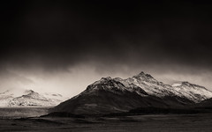 Charcoal Skies (Marshall Ward) Tags: winter storm mountains landscape mono blackwhite iceland mountians stormysky stormyskies 2015 stormapproaching nikond800 afszoomnikkor2470mmf28ged marshallward