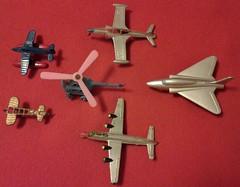 SMALL CAST METAL TOYS (NyamalaTone) Tags: vintage airplane toy collectible flugzeug jouet avion juguete