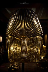 Tutankhamun's death mask - Rear view (max.fontanelli) Tags: king treasure tomb egypt re tesoro tomba egitto oro tutankhamun pharaon golg faraone