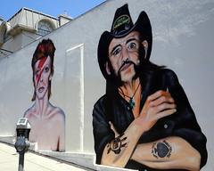 David Bowie & Lemmy (SleepyMonkey42) Tags: la losangeles lemmy bowie ziggystardust mural rip rock parkingmeter