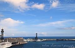 Barcelona (suominensde) Tags: barcelona sea sky espaa cloud seascape water skyline landscape puerto hotel boat mar spain nikon barco ship cityscape waterfront harbour outdoor horizon w paisaje catalonia cielo vehicle wtc catalunya nube catalua horizonte funicular espanya wela d5300 barcelona2016