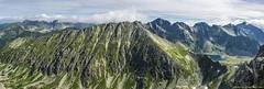 Panorama2 (gubernat) Tags: summer panorama green landscape pass ridge granite summit slovakia peaks gry tatry tatras gully tatrahigh