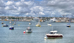 The River Tamar at Devonport, Plymouth (Baz Richardson (now away until 30 July)) Tags: plymouth devon yachts devonport smallboats rivertamar