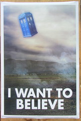The X-Files I Want To Believe Poster With Dr Who Tardis Instead Of UFO (Kelvin64) Tags: the xfiles i want to believe poster with dr who tardis instead of ufo