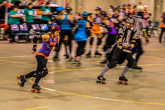 The Jammer makes her move... (dmunro100) Tags: indoor sport roller derby adelaide adrd rollerderby action blur motionblur fast motion movement skates rollerblades highiso tricky lowlight technical difficult canon eos 80d canonef70300mmf456lisusm