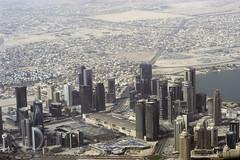 Aerial view of downtown Dubai UAE (kudzu 70) Tags: uae dubai middle east desert city buildings