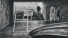 walk up (berberbeard) Tags: street urban blackandwhite zeiss germany photography graffiti fotografie hannover 55mm monochrom schwarzweiss itsnotatrick streetartdeutschland berberbeard berberbeardwordpresscom ilce7m2