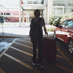 And the cat's in the cradle and the silver spoon... (backbeatb00gie) Tags: trip airport leaving son vacation ian