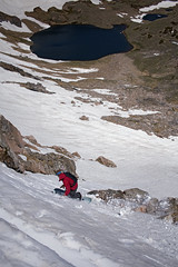 Shred at the Tarn (s_jenkV2) Tags: beartooth pass montana mt 406 highway ski national park forest summer area sun weather explore backcountry mountain range snow snowfield turns adventure outdoors lake water season canon 7d