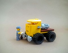 Workhorse 2000 (Sir If) Tags: lego scifi yellow fallout retrofuturistic nuclear truck