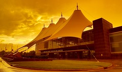The Quiet Before the Storm (mrbrkly) Tags: sunset orange storm clouds virginia dusk center convention conventioncenter hampton hpt hamptonroads hamptonva hrcc hamptonroadsconventioncenter