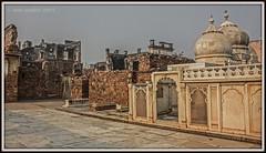 ZAFAR MAHAL RUINS WITH MOTI MASJID, MEHRAULI, DELHI. (Smit Sandhir) Tags: zafar mahal ruins canon eos 450d delhi history historical mosque last mughal bahadur shah mehrauli dome photography india dslr dynasty