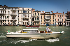 Water Taxi on the Grand Canal (Capture the planet) Tags: nikon d810 nikkor fx flickr landscape history fullframe street venice venitia italy italian italia river adriatic lagoon ship transport tourist tourism romance romantic taxi driver terrace house houses journey fav10
