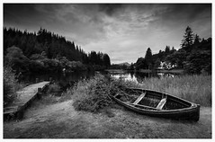 Ard days night.... ( Explored 3/8/2016 ) (theclashcityrocker) Tags: lochard miltonbasin scotland monochrome lightroom canon70d trossachs leefilters 06nd benlomond