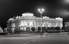 The house of Sevastyanov (sinkalyagas) Tags: city street night light house film mediumformat mamiya rz67 ilford 120mm bw analog monochrom blackandwhite architecture