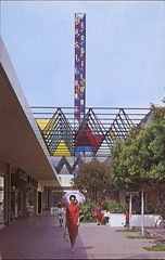 Eastland Shopping Center, West Covina, California (SwellMap) Tags: postcard vintage retro pc chrome 50s 60s sixties fifties roadside midcentury populuxe atomicage nostalgia americana advertising coldwar suburbia consumer babyboomer kitsch spaceage design style googie architecture mall shop shopping plaza
