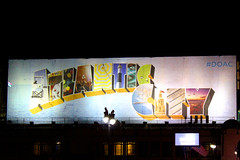 ATLANTIC CITY - Leisure (LUAL audiovisual) Tags: atlantic atlanticcity night nightcity cartelera anuncio valla estadosunidos eeuu paseo playa leisure ocio diversin luces lights vegas calle lamp farola banner banners add name publicidad publicity street outdoors
