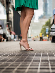 she owns the streets (estellerobertnyc) Tags: manhattan newyork ete jambes jupe legs rue skirts street summer