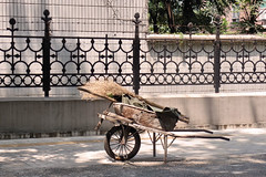 Wheelbarrow, Zibo, China (nikname) Tags: china travel onesweetworld streetscenes urbanscenes chinasidestreets zibochina urbansidestreets
