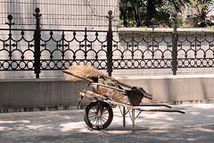 Wheelbarrow, Zibo, China (nikname) Tags: china travel onesweetworld streetscenes urbanscenes chinasidestreets zibochina urbansidestreets