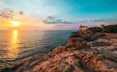 Livorno sunset (meganhill4) Tags: livorno italy landscape seascape oceanscape sunset dawn colors beauty bluesky
