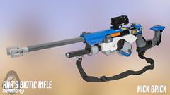 Ana's Biotic Rifle - Overwatch (Nick Brick) Tags: lego overwatch ana amari anaamari biotic sniper rifle bioticrifle bolt action nickbrick