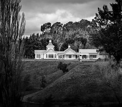 In the western hills (ajecaldwell11) Tags: architecturehdt hawkesbay newzealand architecture ankh bw house blackandwhite sky homestead trees caldwell clouds light