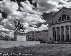 Apotheosis Of St Louis and Art Museum b&w_DSC4885 (Greg Kluempers) Tags: forestpark landscape midwest missouri phototypes seasons sectionsoftheus spring stlouisarea states cityscape