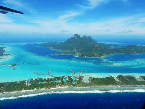 Bora Bora from the air - French Polynesia