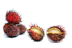 Rambutan (cathy.scola) Tags: rambutan fruit red onwhite