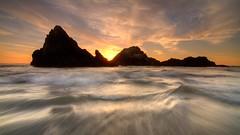 Seal Rocks (Golden) (Conrad...) Tags: seascape sunset sanfrancisco sutrobaths longexposure leefilter waves clouds