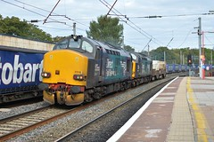 08-10-16 Direct Rail Services 37218 & 37609 - 6K73 Sellafield B.N.F - Crewe Coal Sidings (Lukas66538) Tags: class 37 370 376 37218 37609 drs direct rail services revised livery power lancaster 6k73 sellafield bnf crewe coal sidings fna flask nuclear