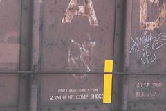Ghost image (MILW157) Tags: hiawatha milwaukee road waterloo spur watertown g64 cp canadian pacific railroad train ballast hopper 340000 series michaels pit