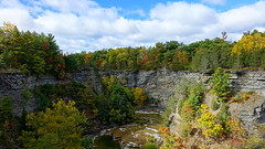 Taughannock Falls State Park, New York (alex_7719) Tags: outdoor trees forest canyon river creek water taughannockfallsstatepark taughannockcreek newyorkstate usa clouds