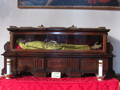 Church of Santa Maria e San Donato in Murano - mummified saint (Lacey Jo) Tags: venice italy church santa maria san donato murano mummy saint relic
