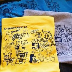 """A Terrist Might Be Anyone"" tshirts (Micro Goblin) Tags: tee tshirt screenprint illustration humor shirt hiphop graffiti paradiseplus clawmoney counterculture nyc brooklyn cartoon silkscreen graf erupto327 bzee"