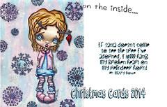 Christmas Cards 2014 by Lizzy Love (Lizzy Love ♥ Oddball Art Co.) Tags: christmas holiday cute bunny skull snowman zombie kawaii whimsical supercute bigeyeart creepycute lizzylove creepmas merrycreepmas