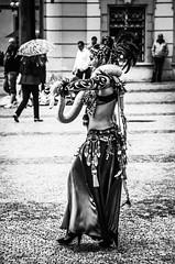 Snakecharmer girl (K K P) Tags: street blackandwhite bw monochrome canon czech prague snake czechrepublic snakecharmer charmer 650d t4i streetsofprague canon650d czechstreets