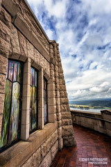 Vista House - Columbia River Gorge (cuda2k) Tags: sky architecture clouds oregon canon river wideangle stainedglass columbia gorge nik pnw ultrawide 1740 vistahouse colorefex cep4