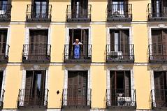 Balkonscene Madrid (FaceMePLS) Tags: madrid spain streetphotography espana spanje straatfotografie facemepls iphone5