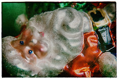 Jolly Ole St. Nick (hbmike2000) Tags: santa christmas old red holiday macro green glass closeup glitter vintage nikon santaclaus christmasdecoration christmasornament d200 jolly scratched hdr textured hoya stnick odc hcs closeuplens clichesaturday hbmike2000