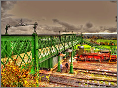Harry Potter bridge (Shaw-King.) Tags: from bridge station that cross footbridge films harry potter railway hampshire been steam kings has londons the featured ropley handyside reinstalled