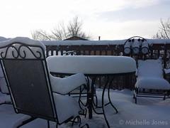 December 26, 2014 - A healthy shot of snow. (Michelle Jones)